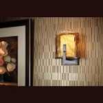 "Aris Collection 1-Light 6"" Roman Bronze Wall Sconce with Amber Alabaster Glass Shade WB1575RBZ"