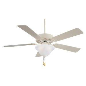 "Contractor Uni-Pack 52"" Shell White Ceiling Fan with Light Kit F548-SWH"