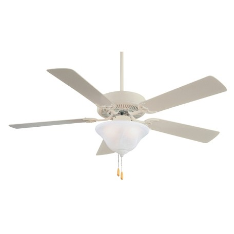 Shell White Contractor 52In. 4 Or 5 Blade Indoor Ceiling Fan With Blades And Light Kit Included