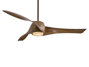 "Artemis 58"" Distressed Koa Ceiling Fan with Tinted Opal Glass F803-DK"