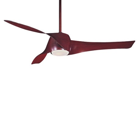 Mahogany 3 Blade 58In. Ceiling Fan - Light, Wall Control And Blades Included
