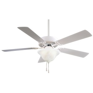 "Contractor Uni-Pack 52"" White Ceiling Fan with Light Kit F548-WH"