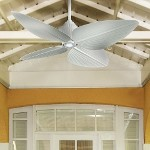 "Gauguin Series 52"" Indoor Outdoor Flat White Ceiling Fan with Light Kit F581-WHF"