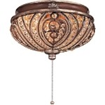 "Chantel 2-Light 11"" Belcaro Walnut Ceiling Fan Light Kit with Crystals K9500"