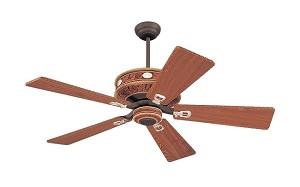 "Monte Carlo Western 52"" Durango Ceiling Fan in Weathered Iron Finish with Durango Pine Blades 5DOR52WI"
