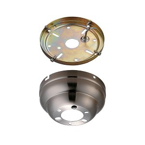 Monte Carlo Fan Series Brushed Steel Flush Mount Canopy MC90BS