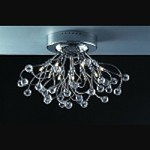 "Lunasphere Design 10-Light 19"" Polished Chrome Crystal Flush Mount Ceiling Fixture SKU* 40797"