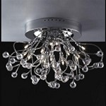 "Lunasphere Design 15-Light 23"" Polished Chrome Crystal Flush Mount Ceiling Fixture SKU* 902109"