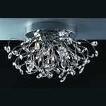 "Lunasphere Design 20-Light 26"" Polished Chrome Crystal Flush Mount Ceiling Fixture SKU* 11204"