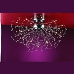 "Medusa Design 25-Light 35"" Polished Chrome Crystal Flush Mount Ceiling Light SKU* 10930"