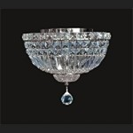 "Invisible Design 4-Light 12"" Chrome or Gold Ceiling Flush Mount with European or Swarovski Crystals SKU# 11368"