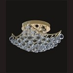 4 & 6 Corner Design 8-Light 12'' Chrome or Gold Ceiling Flush Mount Dressed with European or Swarovski Crystal SKU# 10258