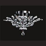 "Branch of Light Design 4-Light 21"" Chrome Ceiling Flush Mount with Clear European or Swarovski Crystals SKU# 10644"