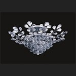 "French Branch of Light 8-Lights 31"" Chrome Semi-Flush Mount with European or Swarovski Crystals SKU# 10640"