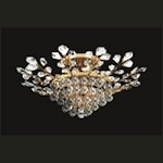"French Branch of Light 8-Light 31"" Gold Semi Flush Mount Dressed with European or Swarovski Crystals SKU# 10654"