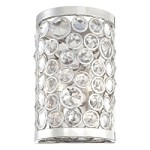 "Magique Collection 2-Light 11"" Polished Nickel Crystal Wall Sconce N2750-613"