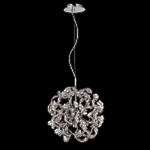 9 Light Crystal Pendant Chandelier Light in Chrome Finish with Crystal Accents  - Joshua Marshal 700084-001