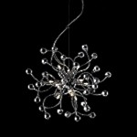 "Lunasphere Design 12-Light 39"" Polished Chrome Crystal Hanging Pendant SKU* 40771"