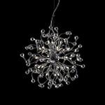 "Lunasphere Design 24-Light 23"" Polished Chrome Crystal Hanging Pendant SKU# 11169"