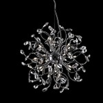 "Lunasphere Design 24-Light 23"" Polished Chrome Crystal Hanging Pendant SKU# 10788"