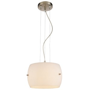 "Omni Collection 3-Light 12"" Brushed Nickel Mini Pendant with Frosted White Glass shade P583-084"