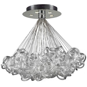 "Elegance Collection 5-Light 40"" Modern Pendant with Clear Ribbed Glass 96979"
