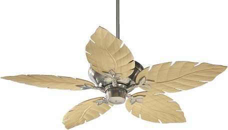 "Medallion 52 Patio Family 52"" Satin Nickel Outdoor Ceiling Fan 135525-65"