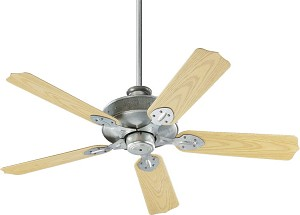 "Hudson Patio Family 52"" Galvanized Outdoor Ceiling Fan 137525-9"