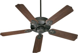 "Hudson Patio Family 52"" Old World Outdoor Ceiling Fan 137525-95"