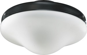 "Quorum International 6"" Matte Black Outdoor Light Kit 1377-859"