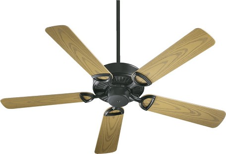 "Estate 52 Patio Family 52"" Matte Black Outdoor Ceiling Fan 143525-59"