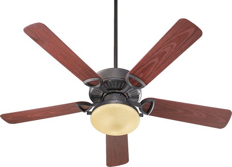 "Estate 52 Patio Family 52"" Toasted Sienna Outdoor Ceiling Fan with Light Kit 143525-944"