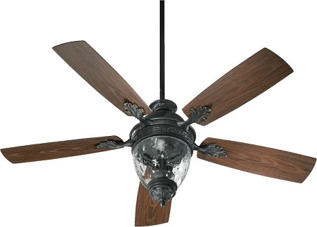 "Georgia Patio Family 52"" Old World Outdoor Ceiling Fan with Light Kit 174525-995"