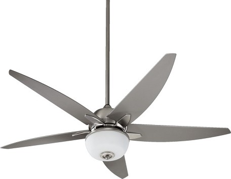 "Portside Patio Family 52"" Satin Nickel Outdoor Ceiling Fan with Light Kit 19525-65"