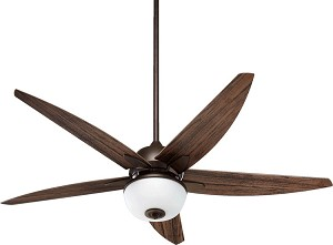 "Portside Patio Family 52"" Oiled Bronze Outdoor Ceiling Fan with Light Kit 19525-86"