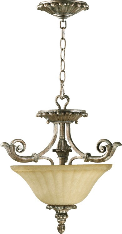 "Barcelona Family 16"" Mystic Silver Dual Mount Ceiling Light 2100-16-58"