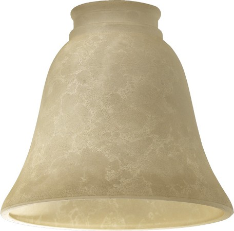 "Quorum International 5"" Cream Mottled Scavo Glass 2812E"