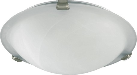 "Quorum International 12"" Satin Nickel Flush Mount 3000-12-65"
