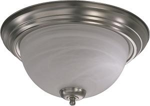 "Quorum International 15"" Satin Nickel Flush Mount 3066-15-65"