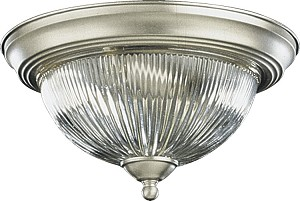 "Quorum International 13"" Satin Nickel Flush Mount 3070-13-65"