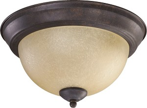 "Quorum International 11"" Toasted Sienna Flush Mount 3073-11-44"