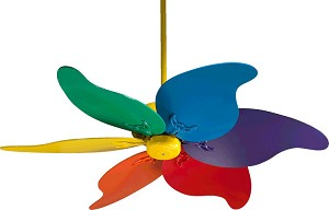 "Pinwheel 46"" Colorful Ceiling Fan 33466-99"