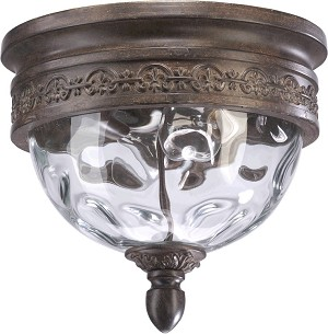 Georgia Family 2-Light Etruscan Sienna Outdoor Flush Mount 3400-12-43