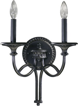 "Anatola Series 2-Light 12"" Old World Wall Sconce 5219-2-95"