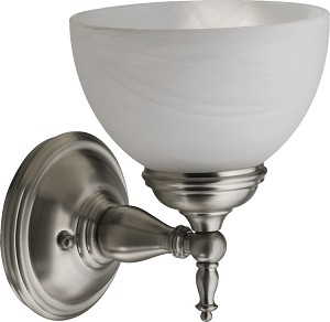 Ashton Family 1-Light Satin Nickel Wall Sconce 5435-1-65