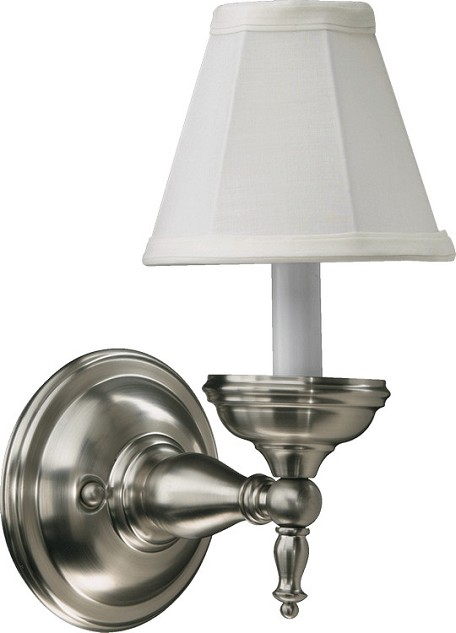 Ashton Family 1-Light Satin Nickel Wall Sconce 5436-1-65