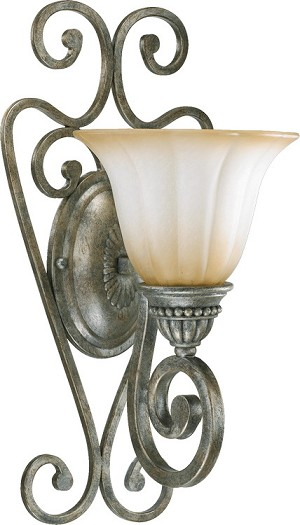 Summerset Family 1-Light Mystic Silver Wall Sconce 5526-1-58