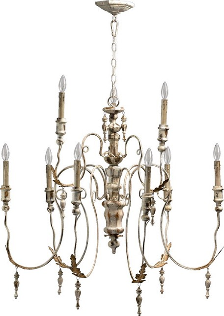 "Salento Series 9-Light 34"" Persian White Chandelier 6006-9-70"
