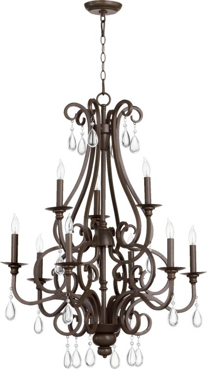 "Anders Family 28"" Oiled Bronze Chandelier 6013-9-86"