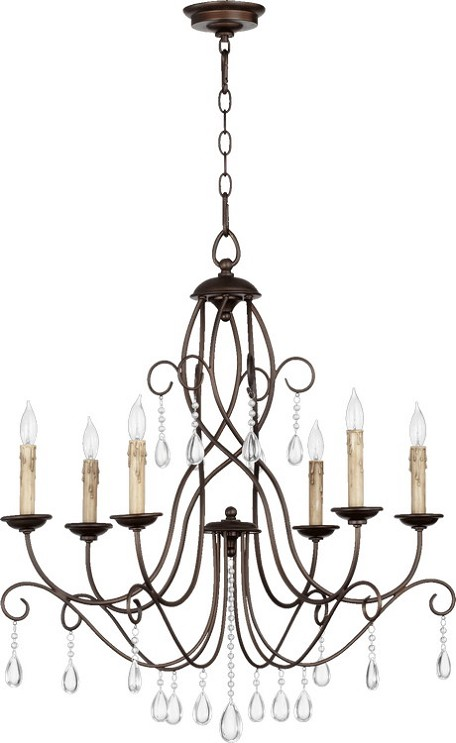 "Cilia Family 28"" Oiled Bronze Chandelier 6116-6-86"